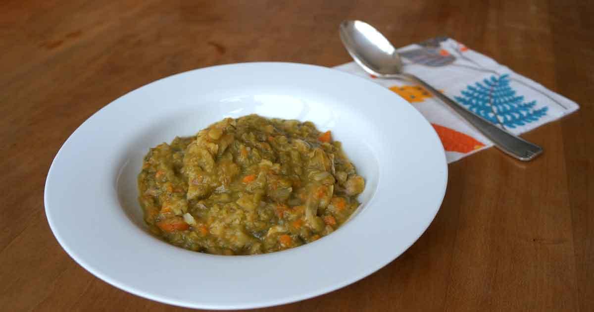 Soupe de pois cassés (De echte ouderwetse erwtensoep)