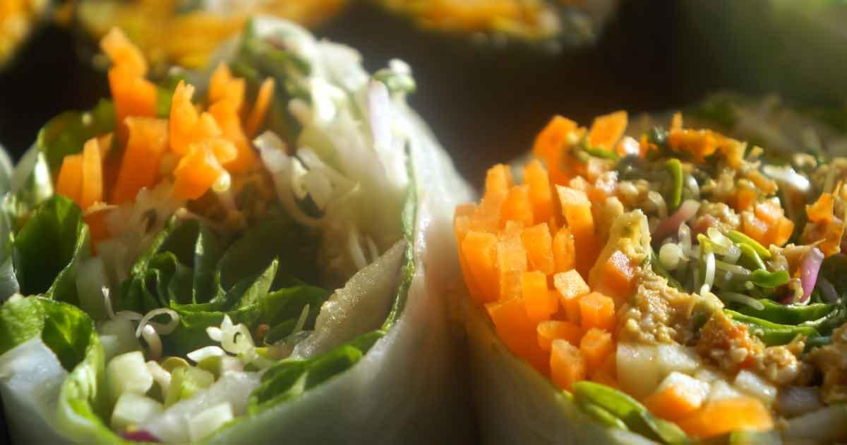 Wrap végétarien complet façon rouleau de printemps, facile et rapide