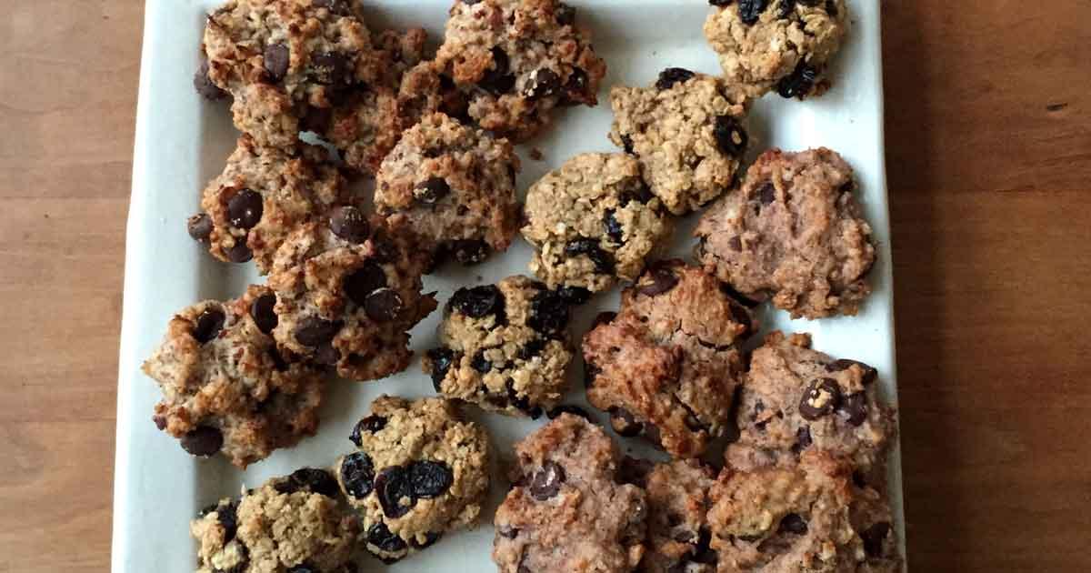 Cookies aux fruits secs sans gluten