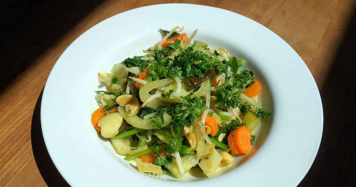 Wok de légumes aux noix de cajou