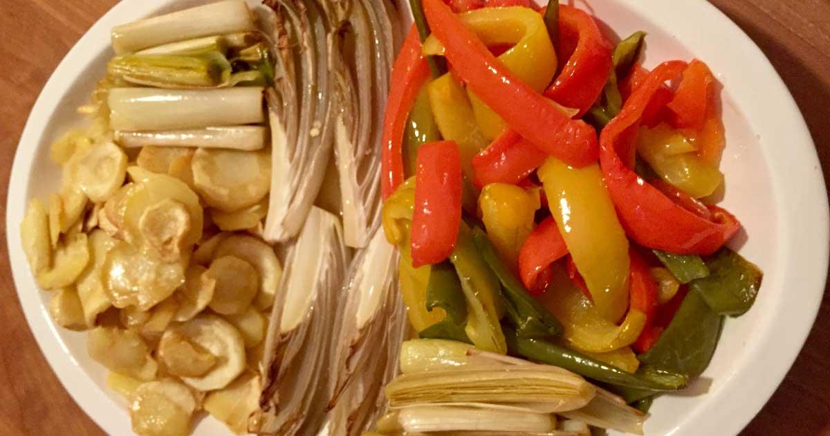 Légumes braisés au four