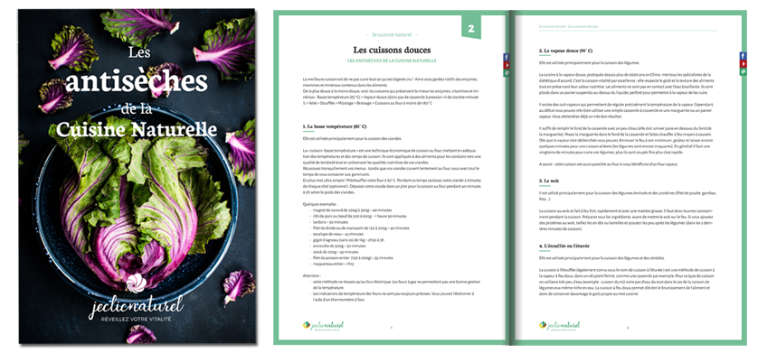 Les fiches pratiques de Je Cuisine Naturel