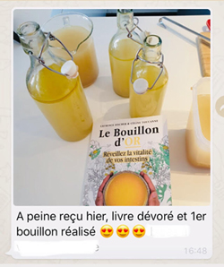 Témoignage Bouillon d'os - Le bouillon d'or